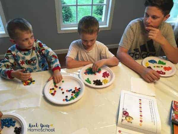 Using candy math for hands-on learning is a fun way for kids to practice & learn basic math skills.