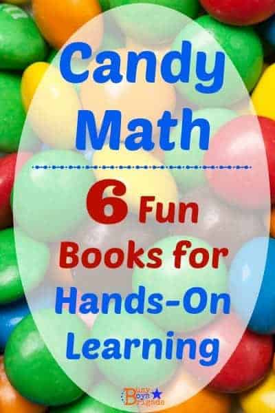 Candy math is a fun, hands-on way to help kids learn & practice basic math skills & facts. Check out these 6 books that make it easy to learn with candy!