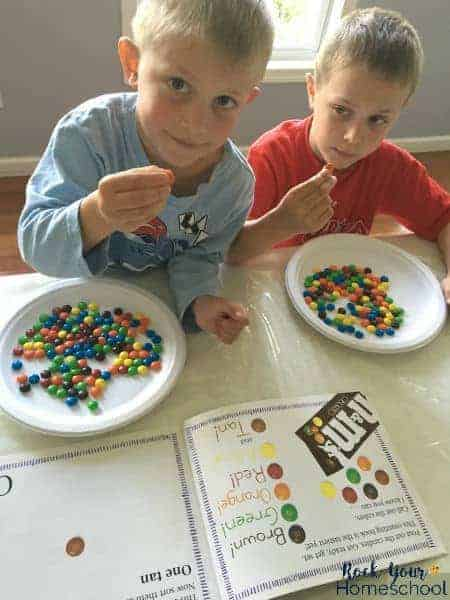 Candy as manipulatives are a fun way to include hands-on learning for kids learning basic math skills.