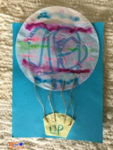 Coffee filter hot air balloon craft is such much fun with Great Day for Up extra learning.