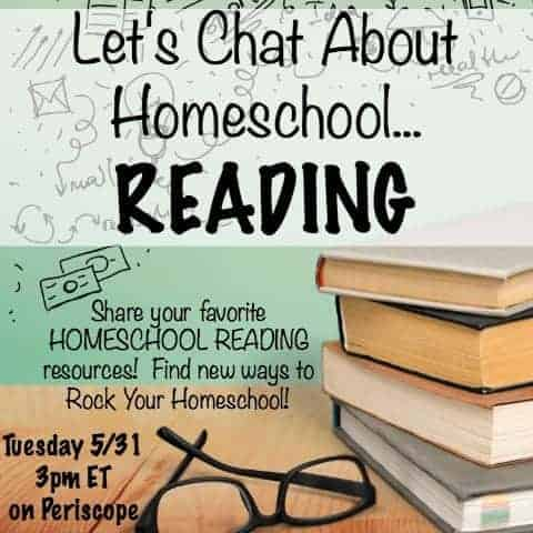 Let's Chat About Homeschool...Reading is a Periscope and blog series for homeschoolers helping homeschoolers. Homeschool reading curriculum and resources will shared based on experiences and recommendations.