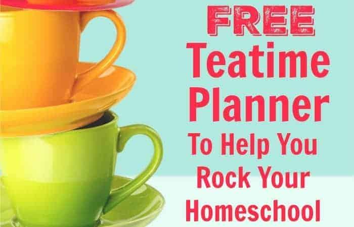 homeschool teatime planner