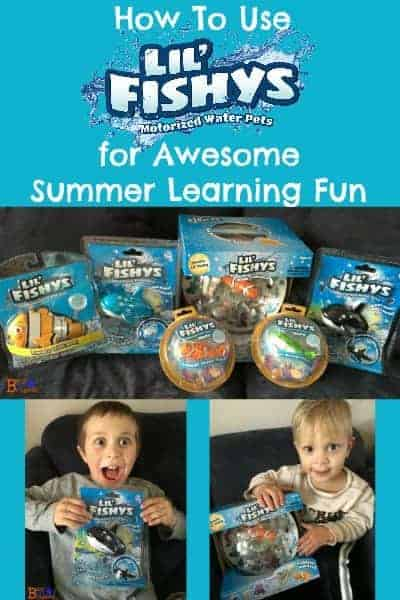 Learn more about Lil' Fishys, cute motorized swim toys, can rock your summer learning fun.  These affordable toys are an easy way to help your kids have fun.  Get ideas on how to use toys like these for summer learning.  Also, find out about giveaway, Twitter Party, & Instagram challenge all for Lil' Fishys!