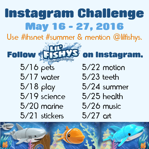 Lil Fishy Instagram Challenge to help you rock your summer learning fun.