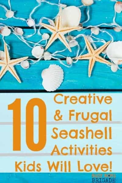 Check out these 10 creative & frugal seashell activities that kids will love. Great for learning fun & play.