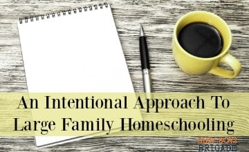 An Intentional Approach To Large Family Homeschooling