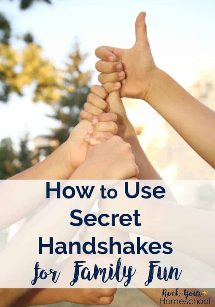 Discover how our family with five boys uses secret handshakes to build family fun & special connections.