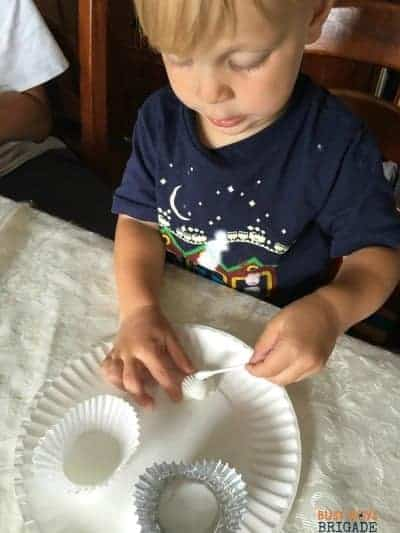 Glue & glitter are great ways to have learning fun with seashell activities.