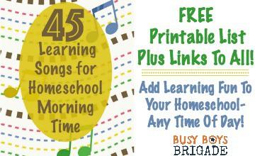 45 Learning Songs For Homeschool Morning Time