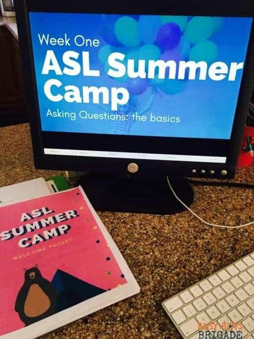 ASL Summer Camp is a four week program designed to help you & your kids learn ASL the right way!