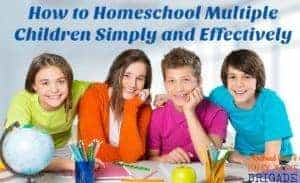 Learn from this mom of 11 how to homeschool multiple children simply & effectively. Part of 20 Days of Homeschooling Encouragement Blog Party.