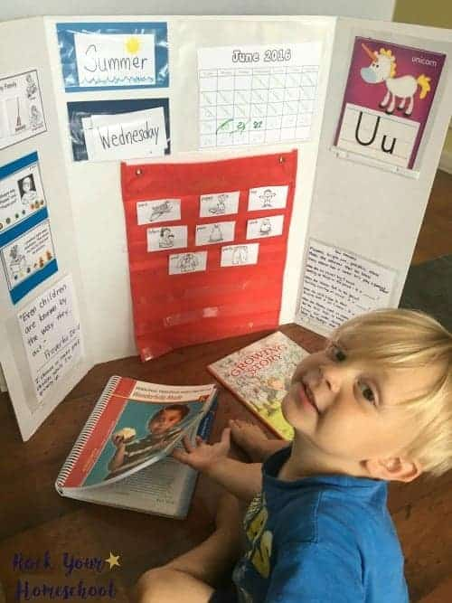 There are a variety of ways to create your homeschool morning time board.