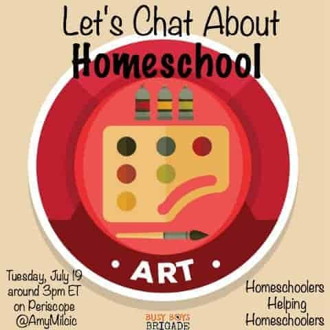 Let's Chat About Homeschool Art is part of a blog & Periscope series dedicated to homeschoolers helping homeschoolers.