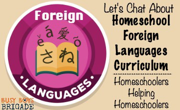 Let's Chat About Homeschool Foreign Languages Curriculum
