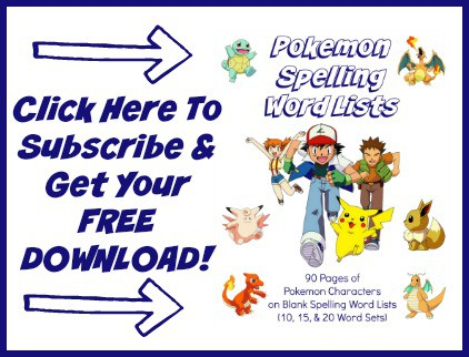 Are you a teacher or homeschooler with students who love Pokemon? Get your FREE Pokemon Blank Lists for use with spelling words & more!