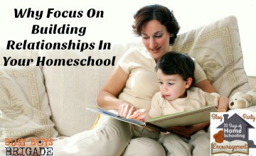Find out why it is important to focus on building relationships in your homeschool. Jess from Intentional In Life shares her ideas & experiences over at 20 Days of Homeschooling Encouragement Blog Party.