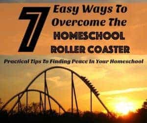 7 Easy Ways To Overcome The Homeschool Roller Coaster is my guest post over at Kingdom First Homeschool. Discover tips & ideas on how to help your homeschool stay on level ground.