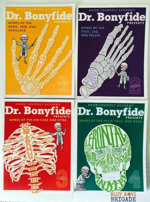Dr. Bonyfide Presents is a book series with engaging images and activities to help kids learn about the bones of the human body.