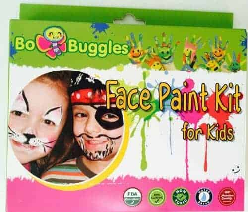 Use face paints as a fun way to celebrate homeschool first day!