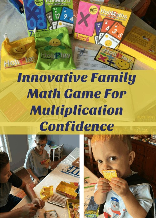 HoliMaths X is an innovative family math game that is fantastic for building multiplication confidence. Fun & engaging, find out how to use this math game to help your kids learn multiplication & more while having fun.