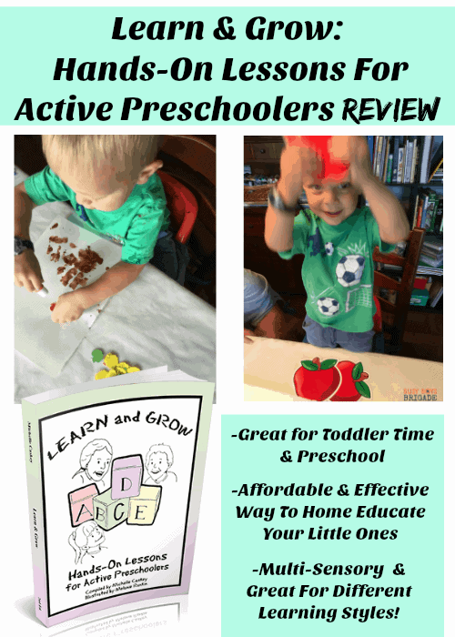 Learn & Grow: Hands-On Lessons For Active Preschoolers is an amazing program created by Michelle of Homeschool Your Boys. This experience homeschool mom shares her effective & affordable approach to home educating little ones. Her multi-sensory activities are fabulous for different learning styles and ages.