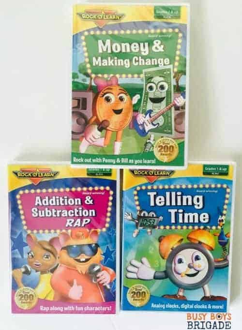 Rock 'N Learn Early Math Collection includes DVDs to engage your kids and help them learn addition, subtraction, telling time, and money facts.