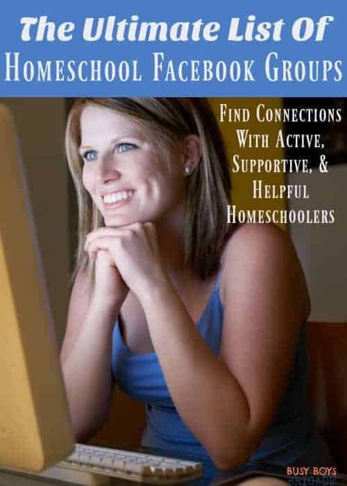 Are you looking to connect with other homeschoolers but skeptical of social media? Feeling lonely or overwhelmed & wish you had other homeschoolers who understood? The Ultimate List of Homeschool Facebook Groups is here to help you find active, supportive, & helpful homeschooling groups on Facebook. Search through this list to find other homeschoolers who you can relate to you-and add groups that you know can help others!