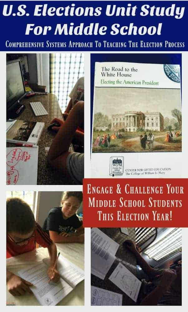 Are you interested in teaching your middle school age students about the election process? Do you have gifted & talented kids who require more of a challenge in their social studies subject? The Road To The White House: Electing The American President is a comprehensive resource for helping you thoroughly teach your tweens & teens about the history and function of the United States Election Process. Engage & challenge with this U.S. Elections Unit Study from Center For Gifted Education The College of William & Mary!