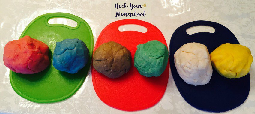 DIY playdough can be an awesome addition to your back-to-homeschool first day!