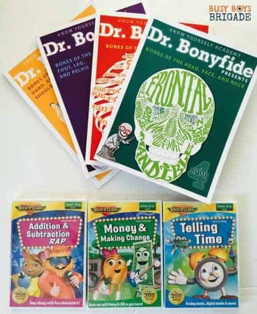 You can enter to win these Science Books about the bones of the human body and Rock 'N Learn Early Math DVDs. Giveaway ends 8/22.