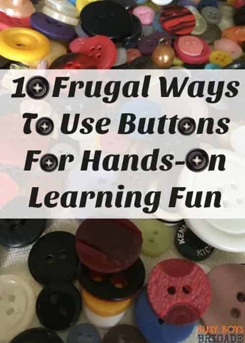 Find out how you can use buttons with your kids to encourage hands-on learning fun. Great for a variety of math, art, & craft activities. Use these frugal materials to engage & inspire.