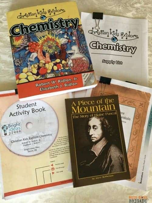 Christian Kids Explore Chemistry is part of an excellent series of homeschool middle school science resources by Bright Ideas Press.