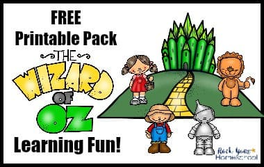 Enjoy this free printable The Wizard of Oz Learning Fun pack with your kids.