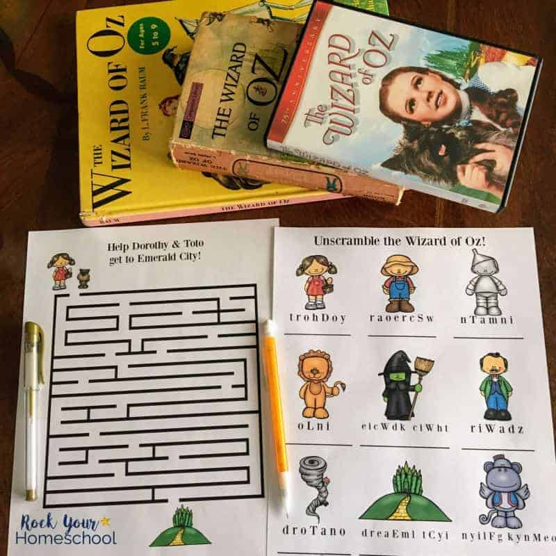 These free printable maze & word scramble activities are wonderful ways to have Wizard of Oz Learning Fun.