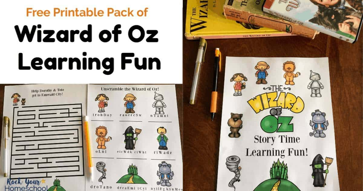Extend the learning fun with this classic using this free printable Wizard of Oz pack.