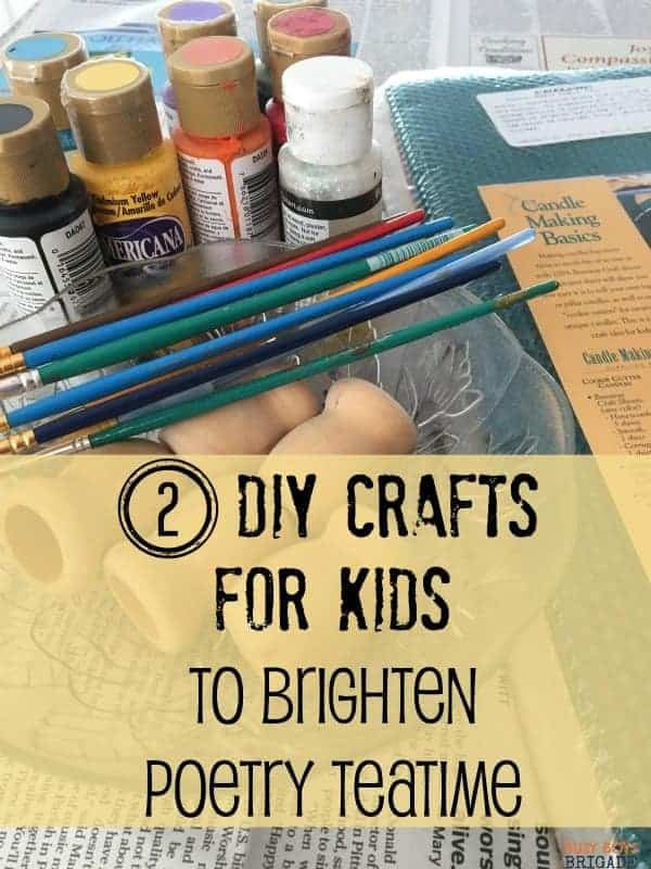 Add these two fun & easy crafts for kids for a great way to brighten poetry teatime! Get your kids excited & involved in making their own unique decor to personalize their place setting & make lasting memories.