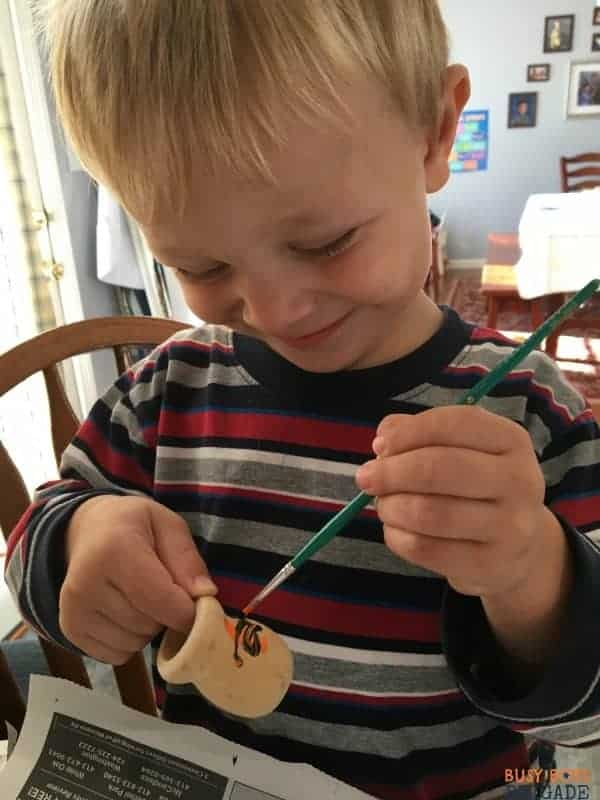 DIY beeswax candles & wood candle cups are a great activity for toddlers to teens to brighten poetry teatime.