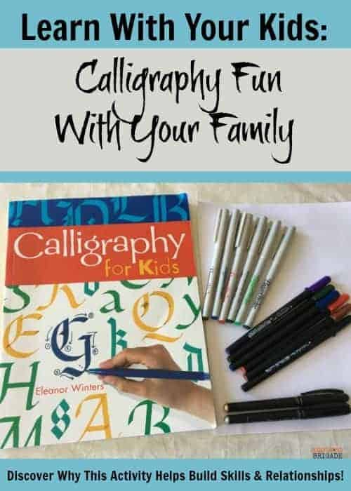 Calligraphy is a great way to learn with your kids. Discover how you can build skills & relationships during quality family time filled with learning fun.
