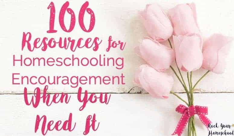 100 Homeschool Encouragement Resources For When You Need It