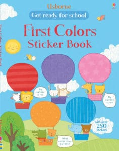 This Usborne First Colors Sticker Book is a great way to add fun to your homeschool.