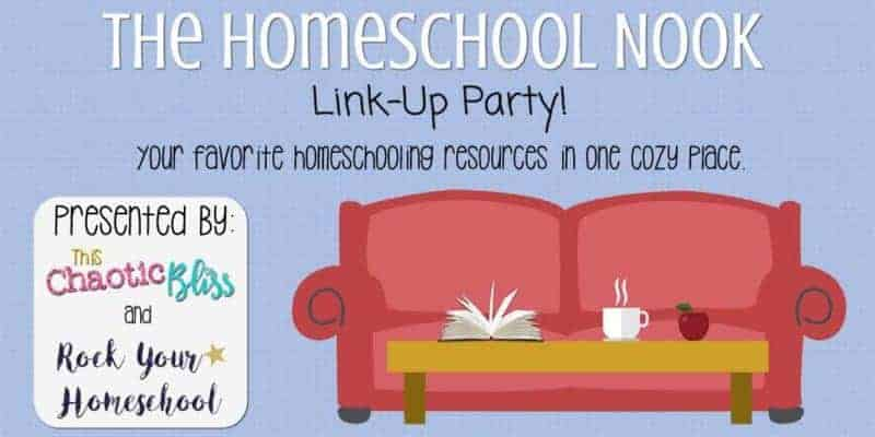 Join us at The Homeschool Nook Link-Up Party! Share & find great homeschooling resources. Link-Up goes live on Mondays.