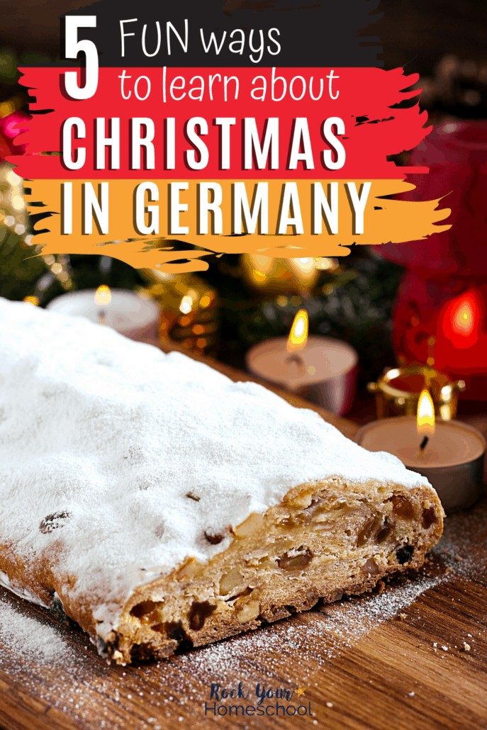 Stollen & other German Christmas decorations to feature how you can enjoy amazing holiday activities & more with these 5 fun ways to learn about Christmas in Germany