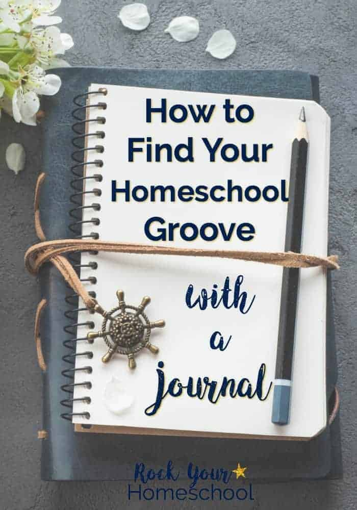 Discover how you can find your homeschool groove using a journal. Get tips, tricks, & motivation to record your thoughts, feelings, & goals towards optimizing your homeschool adventures. Includes free printable pack with monthly themes, weekly prompts, & inspirational quotes to help you get started.