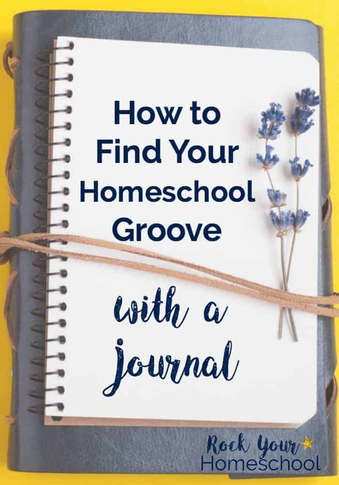 This free printable pack for homeschool moms to journal about monthly themes, weekly prompts, & inspirational quotes can get you started on finding your homeschool groove!