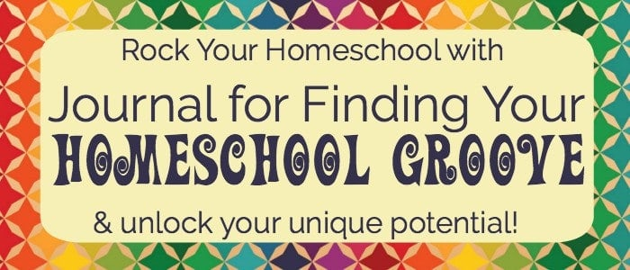 Want to rock your homeschool this year? Use this free printable Journal for Finding Your Homeschool Groove with monthly themes & weekly prompts to help you customize your homeschool experience.
