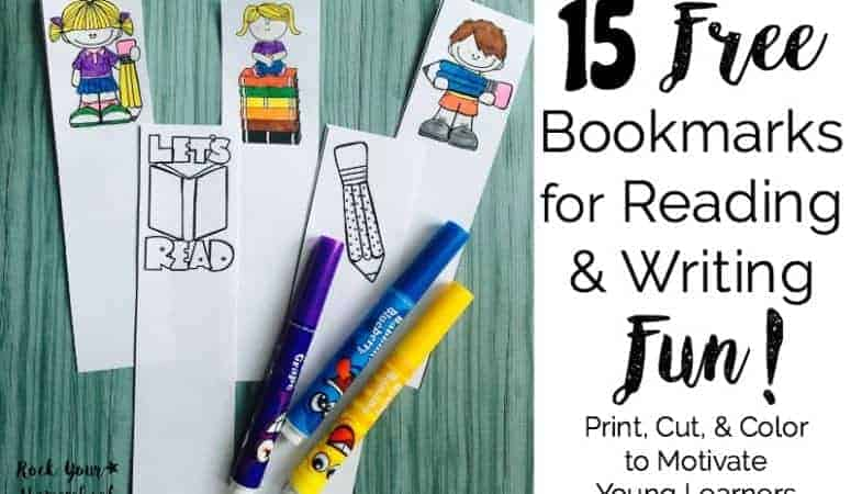 15 Free Bookmarks for Reading & Writing Fun