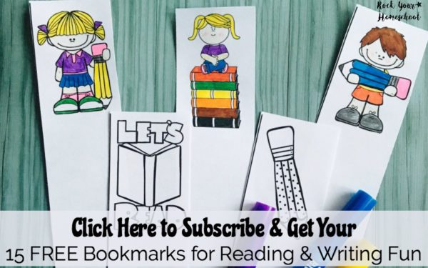 Use these 15 free bookmarks for reading & writing fun. Print, cut, & color to motivate your young learners.