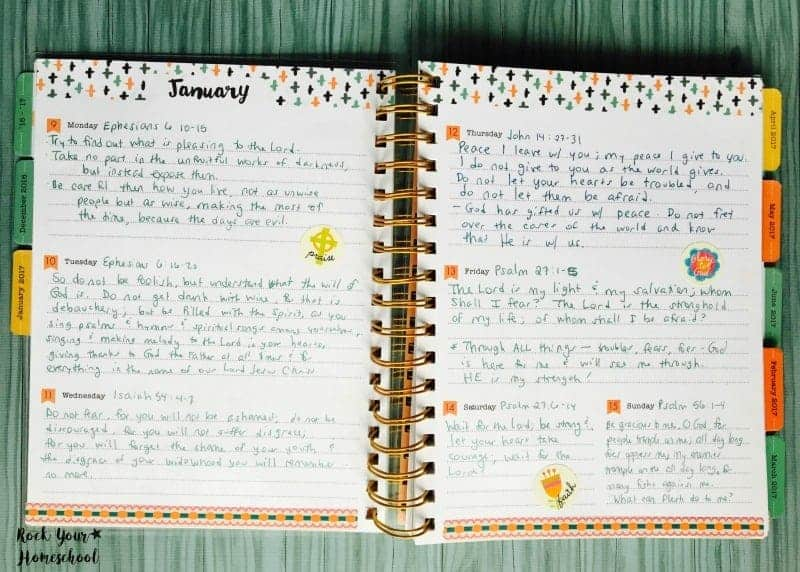 Daily scripture journaling is a powerful self-care practice for homeschool moms.