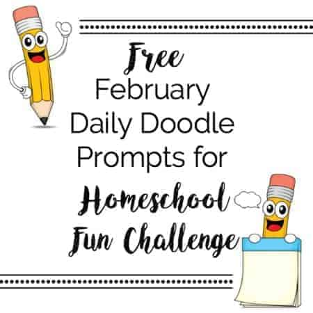 Free Feb Daily Doodle prompts square