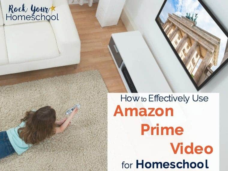 Find out how to effectively use Amazon Prime Video in your homeschool. Get these free printables to extend the learning fun with videos!